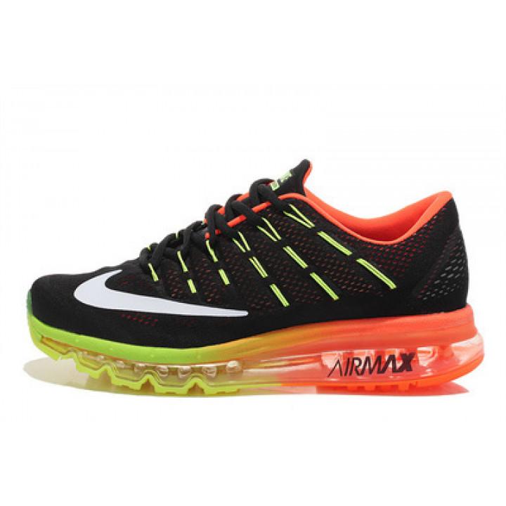 Кроссовки Nike Air Max 2016 черные с оранжевым
